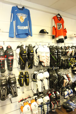 magasin de hockey, patinage, roller hockey